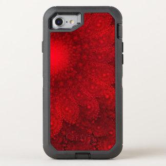 Wirbelndes abstraktes rotes Gänseblümchen OtterBox Defender iPhone 8/7 Hülle