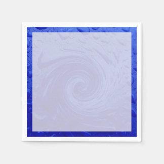 Wirbelndes blaues Wasser Serviette