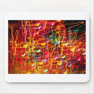 Wirbelndes Neonlicht-Glühen Mauspad