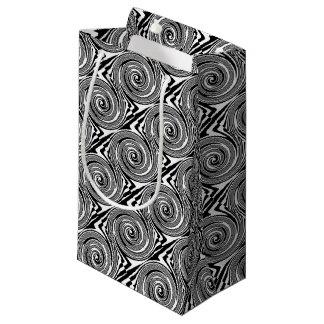 Wirbelndes Schwarzweiss-Muster Kleine Geschenktüte