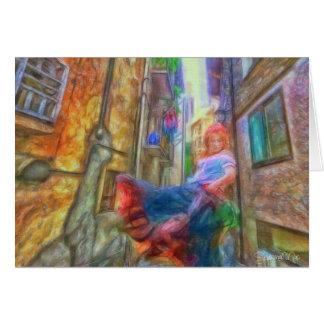 Wirbelndes Sinti und Roma-Mädchen durch Shawna Mac Karte