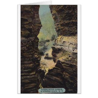 Wirbelwind-Schlucht, Watkins Schlucht, New York Karte
