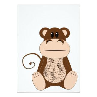 Wirble Affe-Einladung 12,7 X 17,8 Cm Einladungskarte