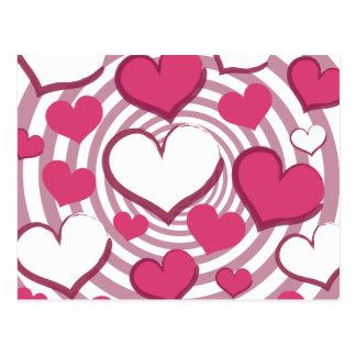Wirble Herz-Postkarte Postkarte