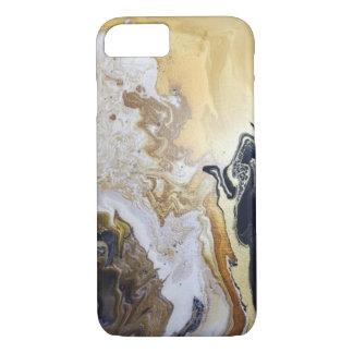 Wirble Marmorfarbe in den Golden, versilbert und iPhone 8/7 Hülle