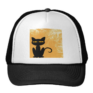 Wirble orange schwarze Katze Kult Mützen
