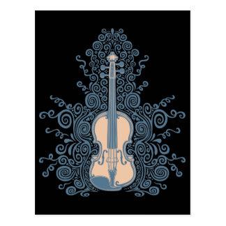 Wirble Violine Postkarte