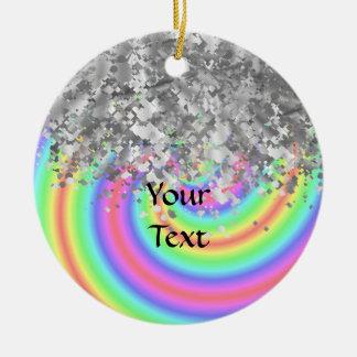 Wirbler Regenbogen- und Imitat-Glitter Keramik Ornament