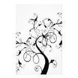 Wirbler romantischer Baum Bedrucktes Papier