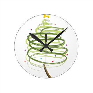 Wirbler Weihnachtsbaum Runde Wanduhr