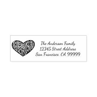 Wirbles Herz - Selbst, der Adressen-Briefmarke mit Permastempel