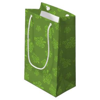 Wirbles Schildkröte-Grün-Muster Kleine Geschenktüte