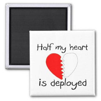 Wird Hälfte meine Herz-entfaltet Quadratischer Magnet