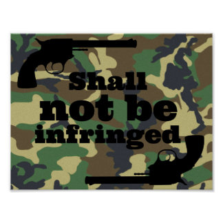 Wird nicht auf Camouflage-Hintergrund verletzt Poster