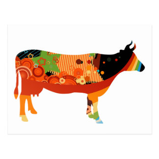 Wirklich Amoozing fleischige farbige Kühe Postkarten