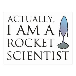 Wirklich bin ich ein Raketenwissenschaftler Postkarte