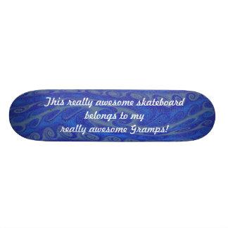 Wirklich fantastischer blauer Gramps Skateboard 20,6 Cm Skateboard Deck