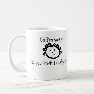 wirklich interessiert kaffeetasse