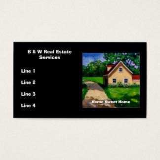 Wirkliche Anwesen-Agent GESCHÄFTS-KARTEN: GRAFIK Visitenkarte