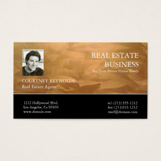 Wirkliche Anwesen-Agent-Kupfer-Geschäfts-Karten Visitenkarte