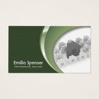 Wirkliche Anwesen-Agentur-Grün-Geschäfts-Karte Visitenkarte