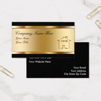 Wirkliche Anwesen-Geschäfts-Karten Visitenkarte