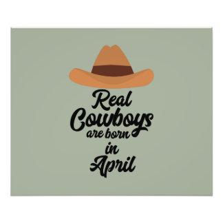 Wirkliche Cowboys sind Bon im April Znkg6 Fotodruck
