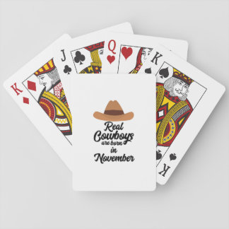 Wirkliche Cowboys sind Bon im November Zgg0p Spielkarten