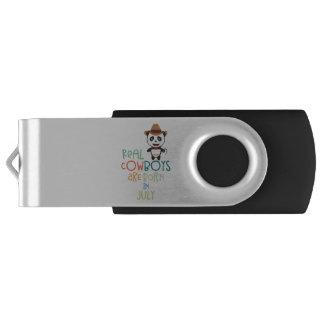 Wirkliche Cowboys sind geborene im Juli Zf3vh USB Stick