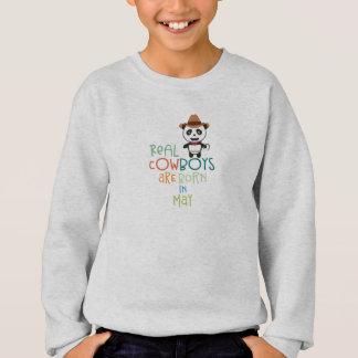 Wirkliche Cowboys sind geborenes im Mai Zghtr Sweatshirt