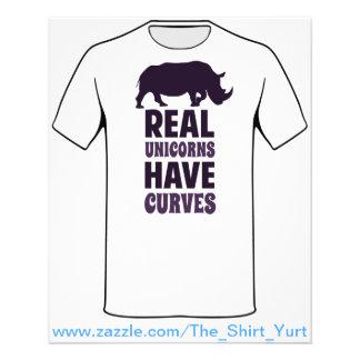 Wirkliche Einhörner haben Kurven 11,4 X 14,2 Cm Flyer