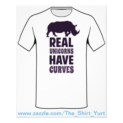 Wirkliche Einhörner haben Kurven Flyers