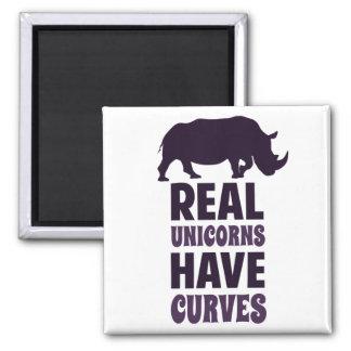 Wirkliche Einhörner haben Kurven Quadratischer Magnet