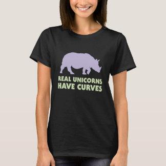 Wirkliche Einhörner haben Kurven T-Shirt