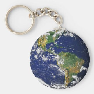 Wirkliche Fotografie der Welt Keychain Schlüsselbänder
