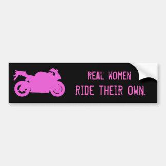 Wirkliche Frauen-FahrAutoaufkleber Autoaufkleber