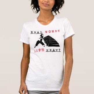 Wirkliche Frauen heben schweres Racerback T-Shirt