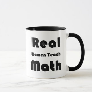 Wirkliche Frauen unterrichten Mathe Tasse
