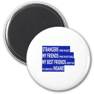 Wirkliche Freunde richten Freundschaft aus Runder Magnet 5,1 Cm
