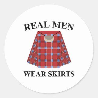 Wirkliche Herrenbekleidung-Röcke Runder Aufkleber