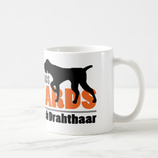Wirkliche Hunde haben Bärte - Deutsch Drahthaar Kaffeetasse
