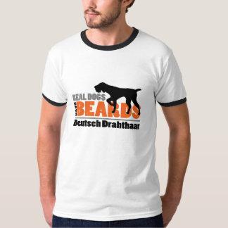 Wirkliche Hunde haben Bärte - Deutsch Drahthaar T-Shirt