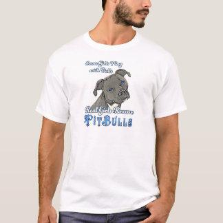Wirkliche Mädchen-Rettungs-Pitbullen T-Shirt