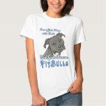 Wirkliche Mädchen-Rettungs-Pitbullen Tshirt