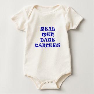 Wirkliche Mann-Datums-Tänzer Baby Strampler
