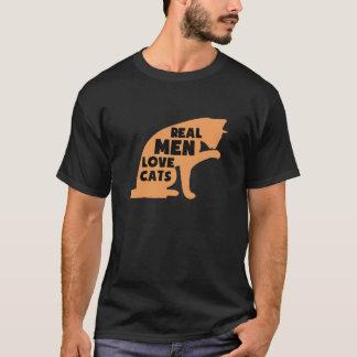 Wirkliche Mann-Liebe-Katzen T-Shirt