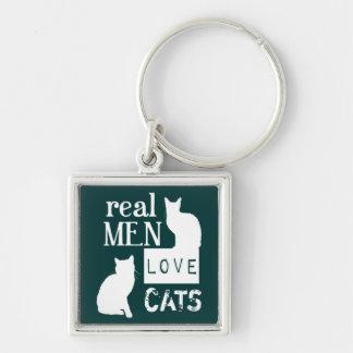 Wirkliche Mann-Liebe-Katzen (verfügbar in allen Schlüsselanhänger