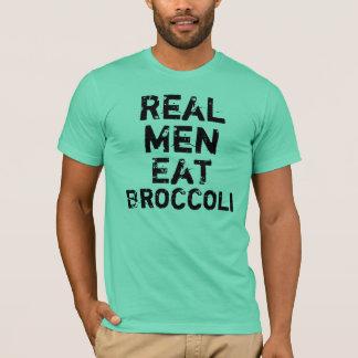 Wirkliche Männer essen Brokkoli T-Shirt