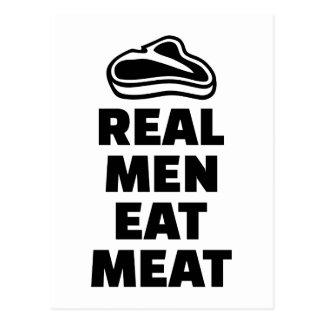 Wirkliche Männer essen Fleisch Postkarte