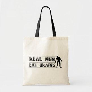 Wirkliche Männer essen Gehirntasche Tragetasche